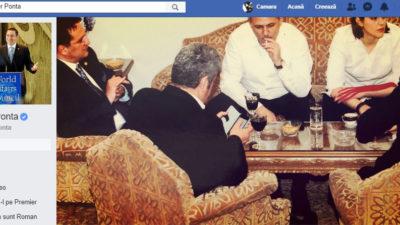"""Șezătoare cu Dragnea, Kovesi și """"statul paralel"""", într-o nouă poză de la Ponta"""