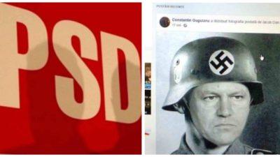 Poza cu Iohannis în uniformă nazistă l-a lăsat fără job. Ce a făcut un consilier PSD