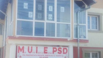 """De ce și-a """"decorat"""" un român casa cu mesaje anti-PSD"""