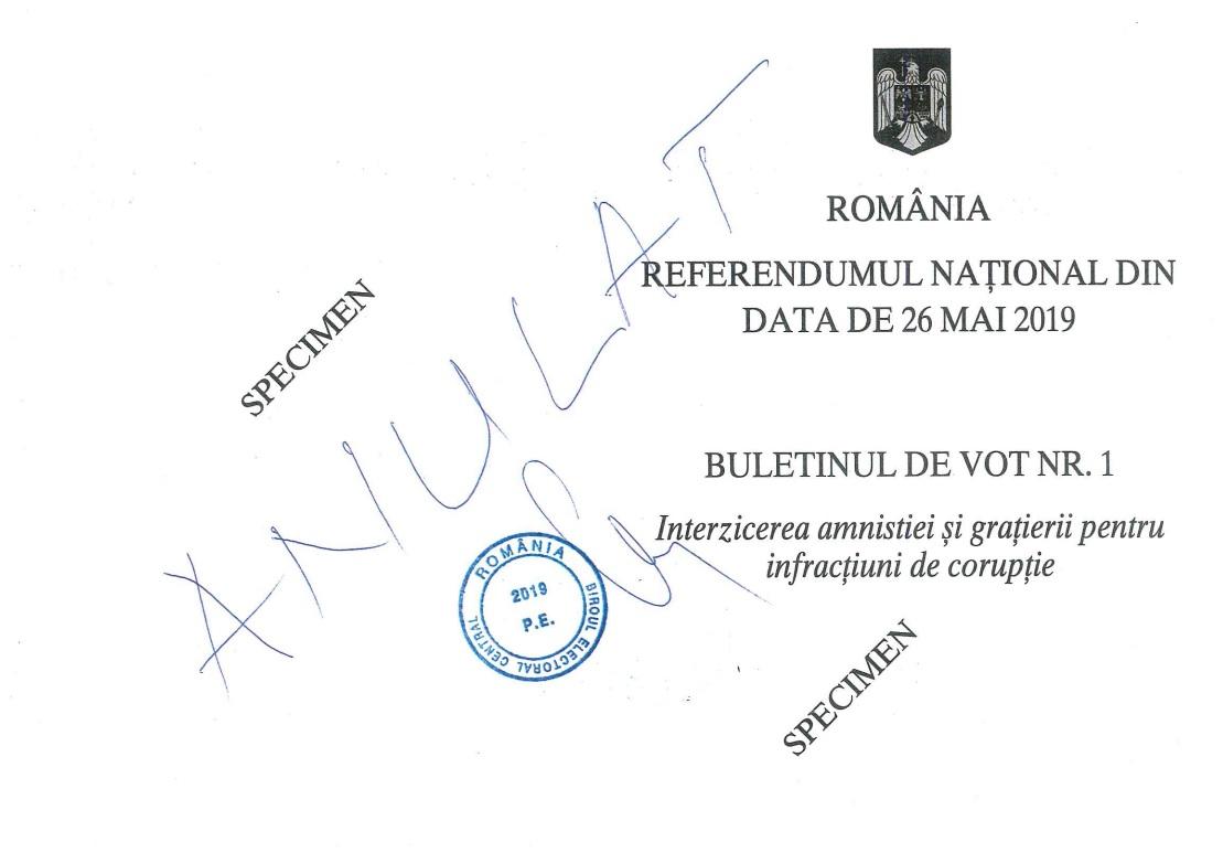 Buletin de vot nr. 1, pag. 1 și 4
