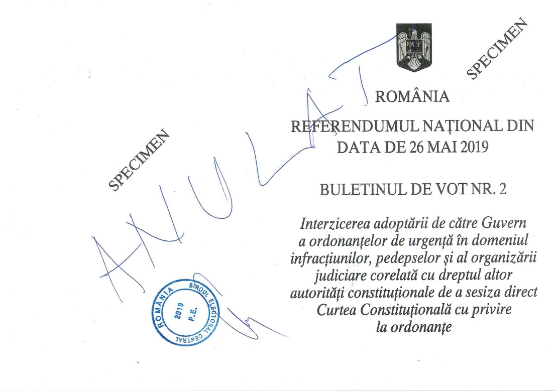 Buletin de vot nr. 2, pag 1 și 4