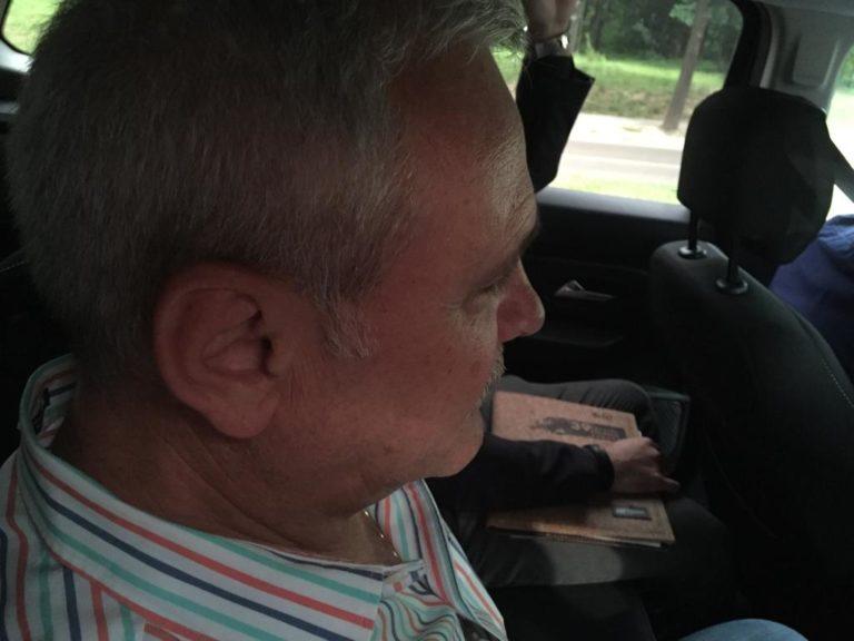 Liviu Dragnea în mașina de Poliție