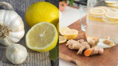 Ghimbir, lămâie, usturoi și apă. Cea mai bună băutură pe care s-o bei vara