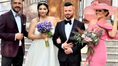Cât a costat rochia de nașă a Cristinei Șișcanu. Soția lui Mădălin Ionescu a strălucit la nunta Gabrielei Cristea