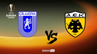 Cine transmite la TV Universitatea Craiova – AEK Atena, din preliminariile Europa League