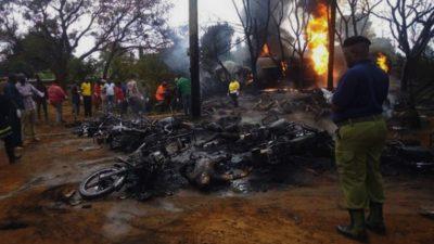 Bilanțul tragediei din Tanzania: 75 de morți, după ce o cisternă a explodat