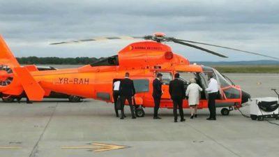 Câți bani a dat Viorica Dăncilă pe elicopterul privat cu care a mers în Moldova. Reacția premierului