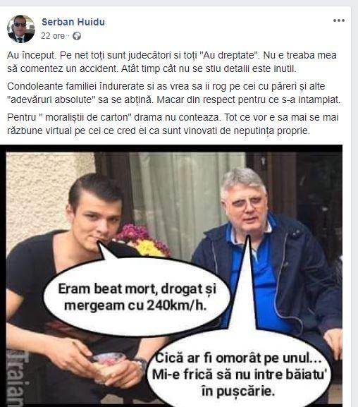 """Șerban Huidu, comparat cu Mario Iorgulescu. Reacția prezentatorului: """"Pentru <<moraliștii de carton><figcaption id="""