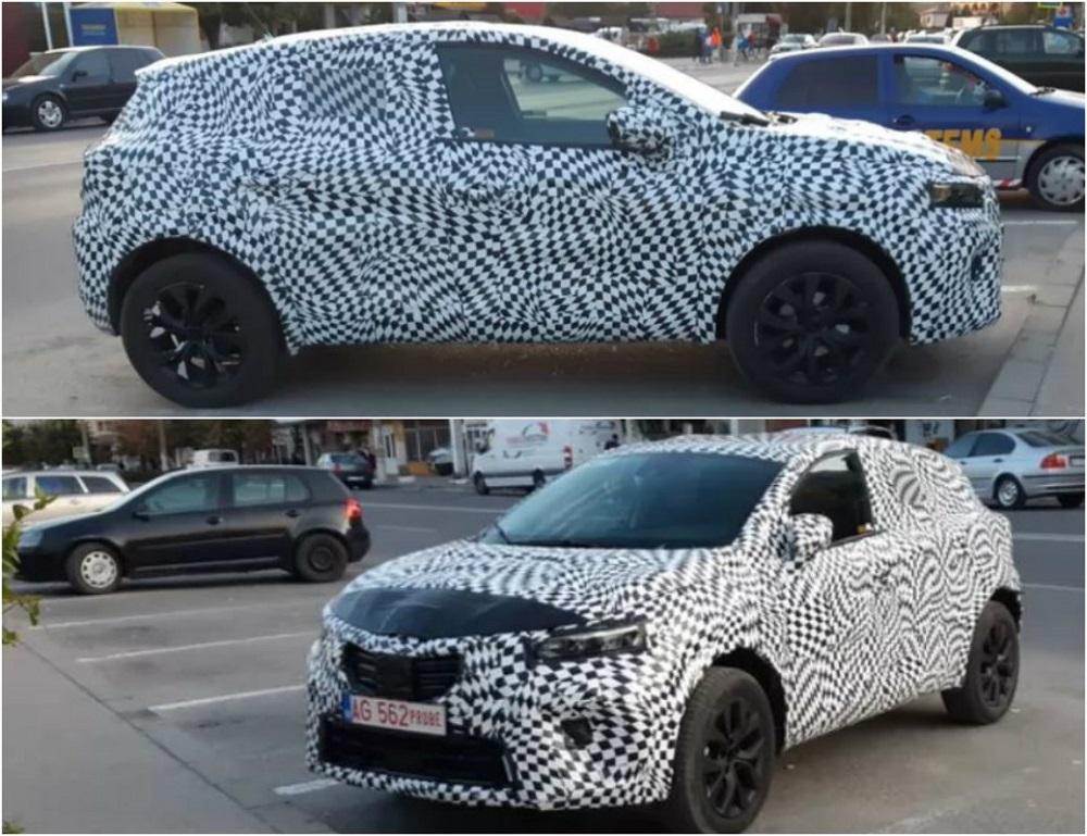 Noua Dacia Mașină camuflată, surprinsă într-o parcare din România