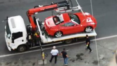 Polițiștii din Capitală i-au arătat unui șofer de Ferrari că nu e șmecher cu bolid