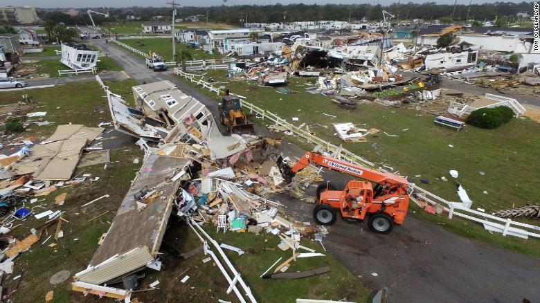 Uraganul Dorian a devastat SUA