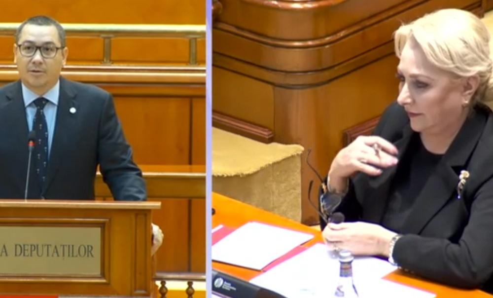 Gestul făcut de Viorica Dăncilă, în timp ce Victor Ponta vorbea la tribuna Parlamentului. Colegii ei au început să râdă