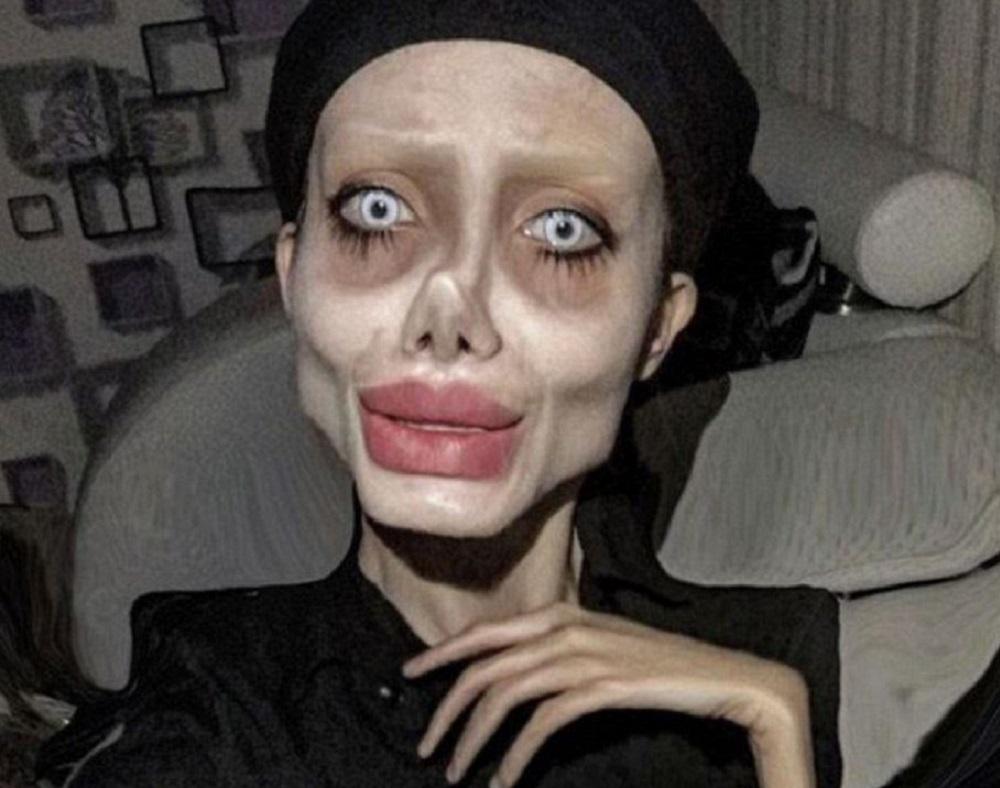 Tânăra care a mințit că și-a făcut operații estetice ca să arate ca Angelina Jolie, arestată