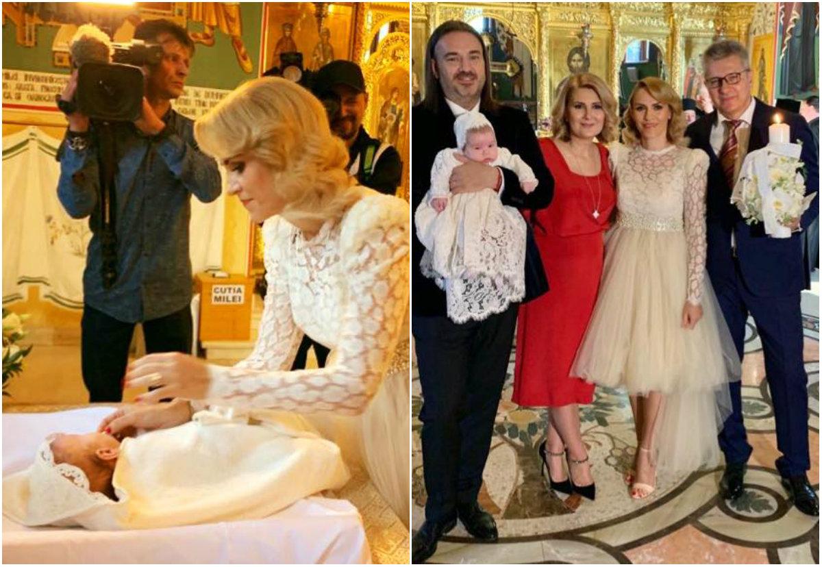 Gabriela Firea, nașa de botez a fetiței Alessandrei Stoicescu. Ce ținută a purtat primarul Capitalei la biserică