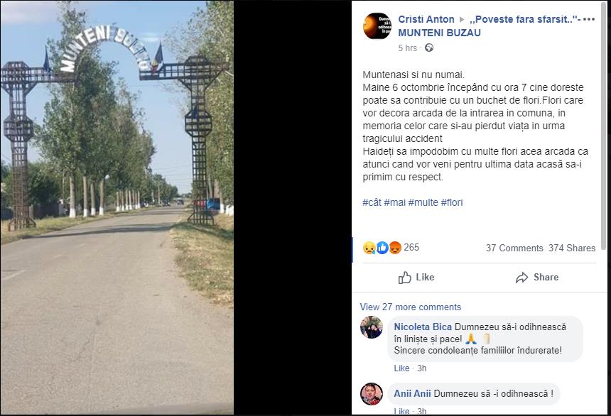 Gestul localnicilor pentru famiiile victimelor din carnadiul din Ialomnița