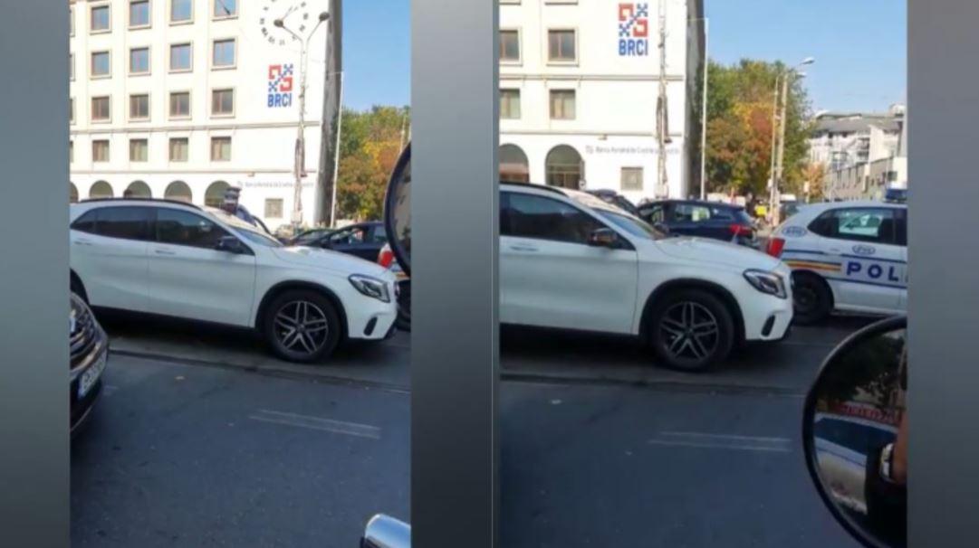 Scene șocante în București. Un șofer a lovit un polițist, a intrat cu mașina într-un grup de pietoni și a fugit. Unde a fost prins