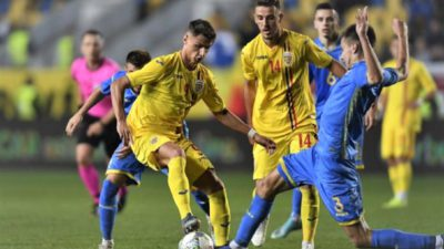 România – Ucraina 3-0, în preliminariile Euro U21. Tricolorii mici au urcat pe locul 3 în grupă
