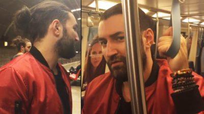 Cum s-a filmat Smiley alături de două tinere, la stația de metrou Titan. Reacția fanilor când l-au văzut așa