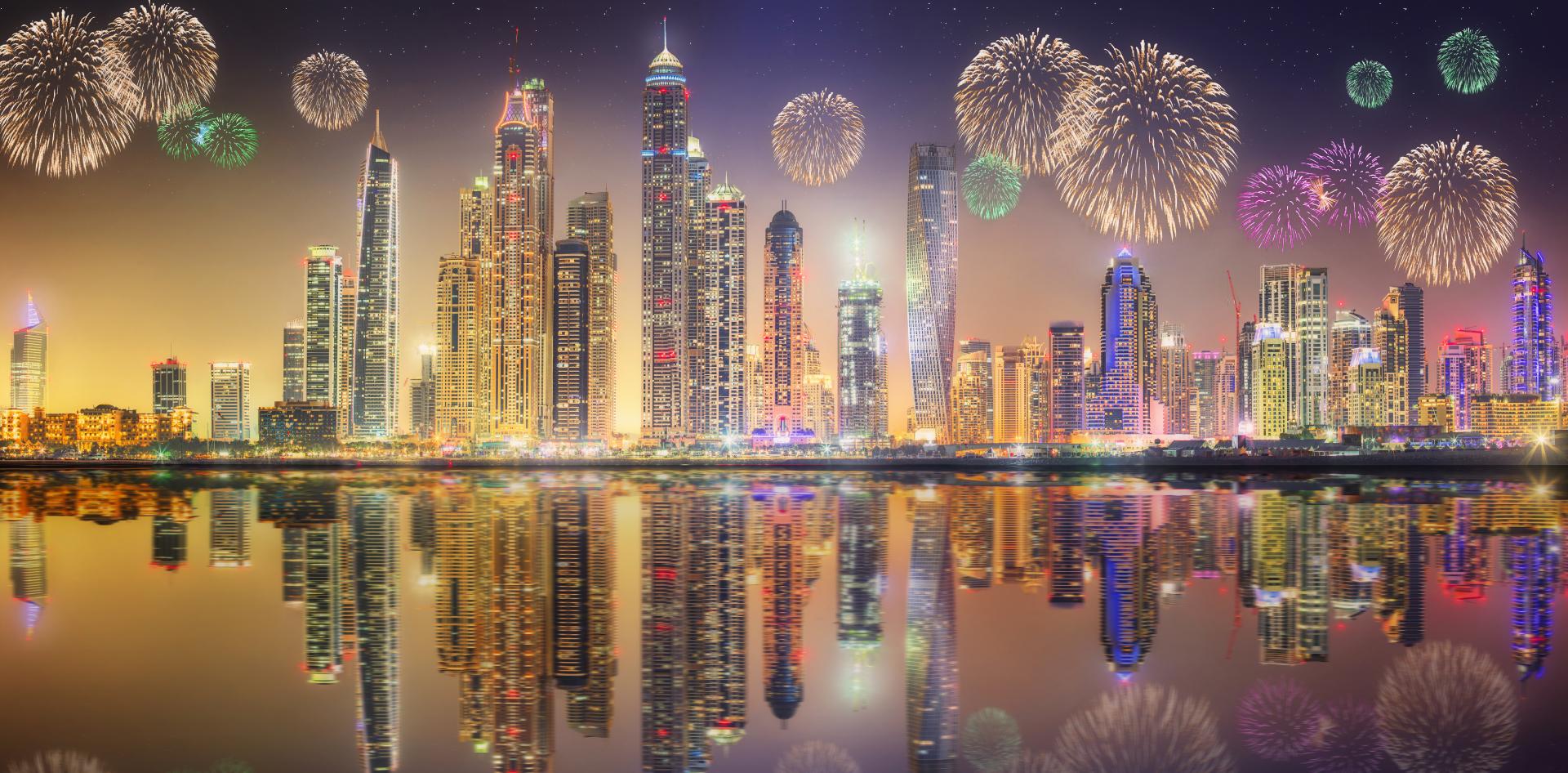Artificii în noaptea de revelion.