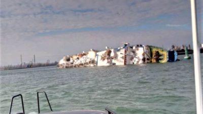 O navă cu 14.600 de oi, scufundată în Portul Midia. Primele imagini de la fața locului
