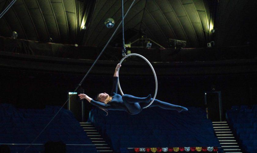 VIDEO Accident grav la circ, în Hunedoara. Miss Virginia, acrobata care a căzut în gol de la 4 metri