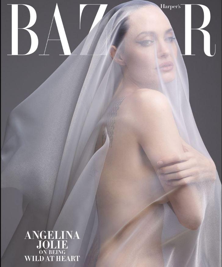 "Angelina Jolie, poze nud Sursa Foto: ""Harper's Bazaar"""