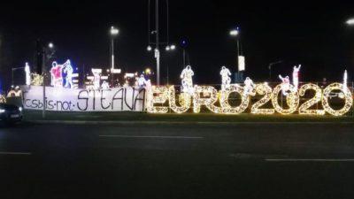 """Proteste ale steliștilor la tragerea la sorți pentru Euro 2020: """"FCSB is not Steaua!"""""""