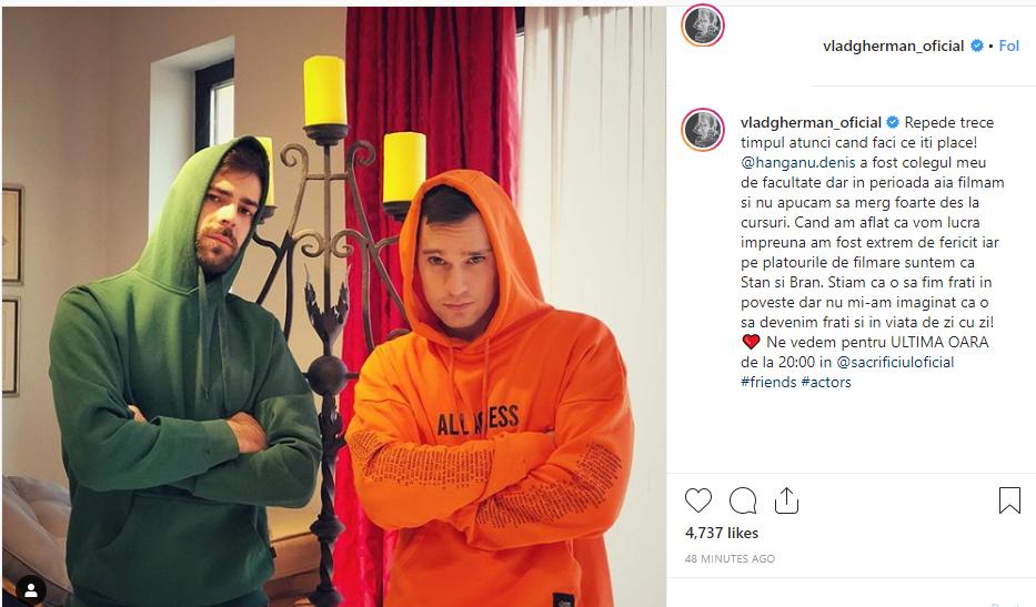 Ce a anunțat Vlad Gherman despre colegul lui din Sacrificiul de la Antena 1. Dezvăluiri despre Denis Hanganu