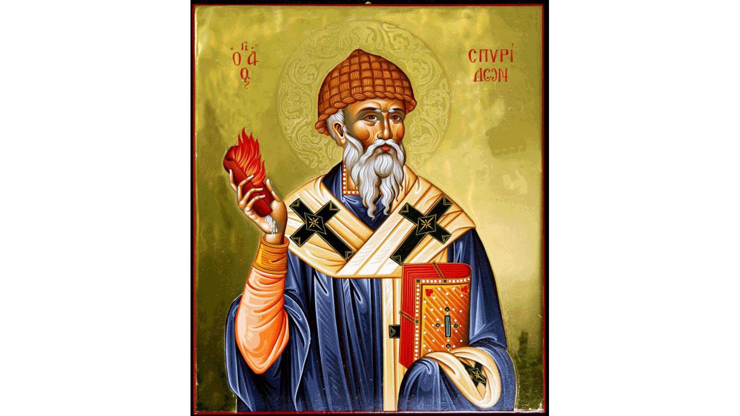 Icoană cu Sfântul Spiridon