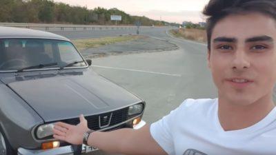Uluitor ce a făcut un tânăr din Craiova cu Dacia 1300 moștenită de la bunic. Are inclusiv deschidere cu comandă vocală