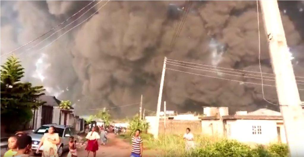 Explozia bărbatului a provocat un incident major în Lagos, Nigeria