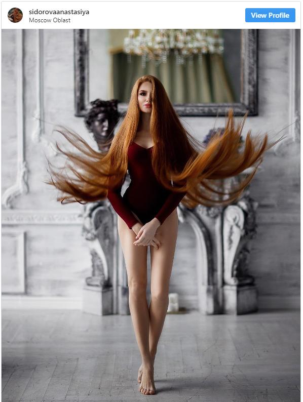 Ea este Rapunzel în viața reală. Cum arată Anastasyia după ce nu s-a tuns timp de 15 ani