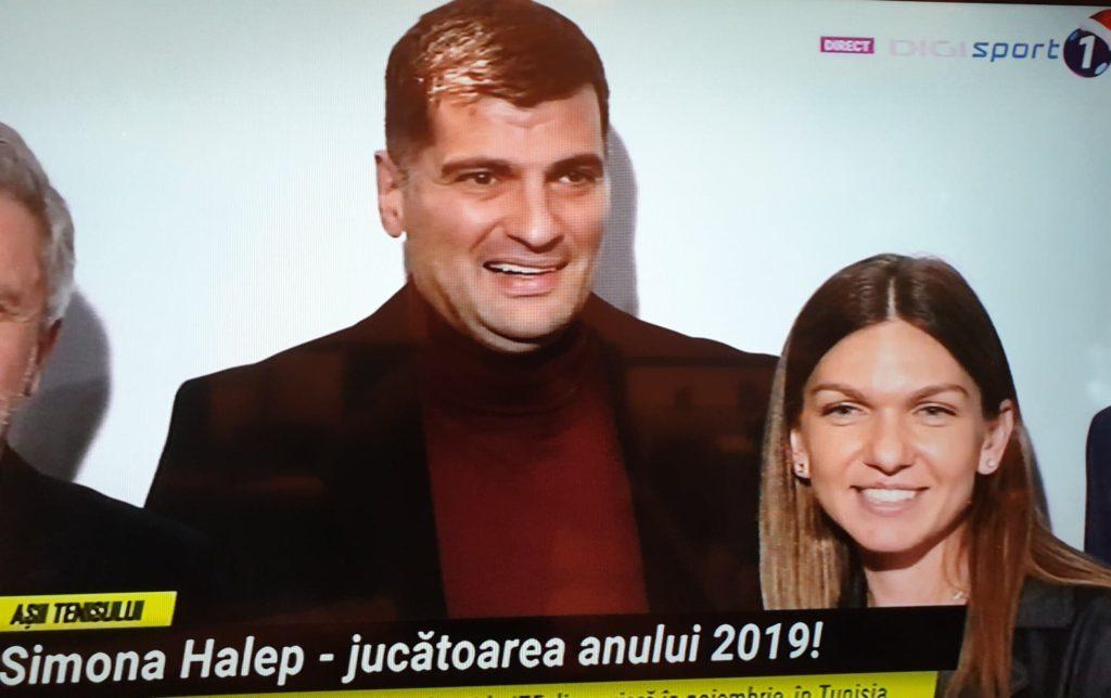 Simona Halep a primit premiul Sportiva Anului 2019, iar lângă ea l-a chemat pe Toni Iuruc, iubitul ei.