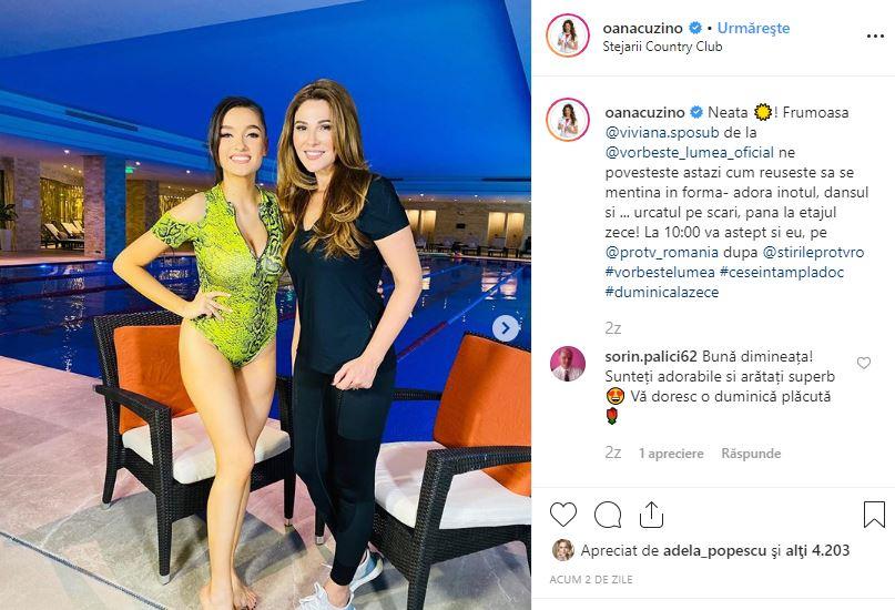 Viviana Sposub de la Vorbește Lumea face ravagii în costum de baie, alături de Oana Cuzino. Secretul colegei lui Cove
