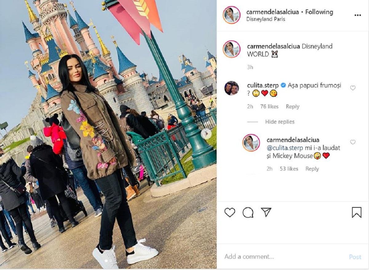 Carmen de la Sălciua și Culiță Sterp, dialog pe Instagram. Ce i-a scris cântărețul și cum a răspuns ea