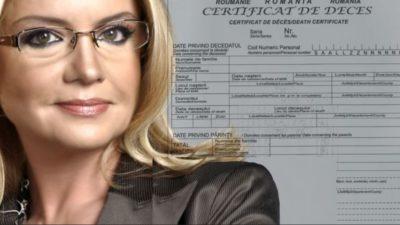Ce scrie în certificatul de deces al Cristinei Țopescu. Care a fost adevărata cauză a morții jurnalistei