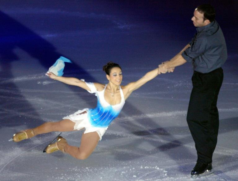 Sarah Abitbol cu partenerul sau Stéphane Bernadis
