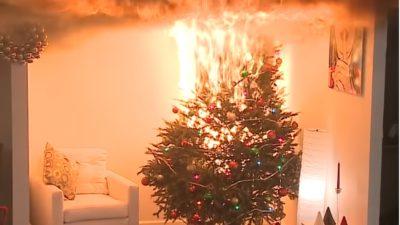 Un brad de Crăciun, un incendiu de proporții: cât de mare este dezastrul de la Galați