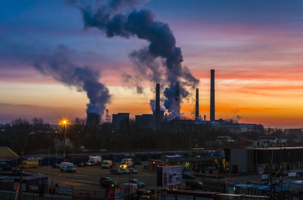 În București s-a inregistrat un grad mare de poluare. Foto: evz.ro