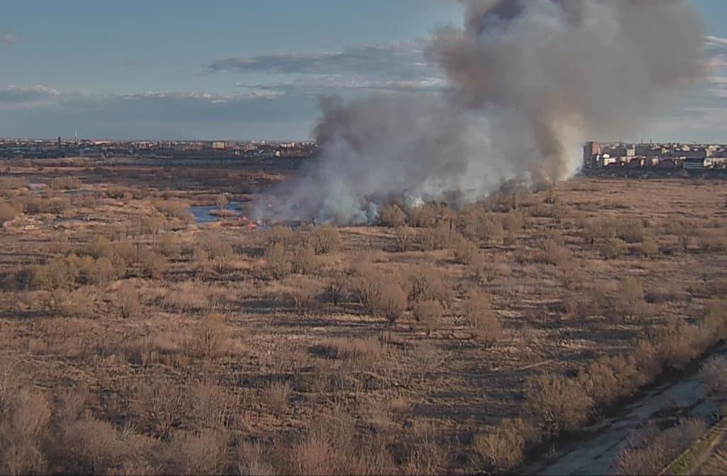 Un incendiu a izbucnit recent în Delta Văcărești. Zona aflată în ardere este de aproximativ 20.000 de metri pătrați. Pompierii sunt deja în alertă și situația este din ce în ce mai dificilă.