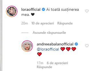 Lora, reacție la postarea Andreei Bălan în care recunoaște că va divorța e Burcea. Ce au cele două în comun?