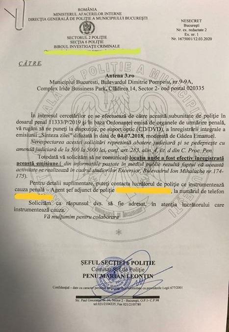 Mircea Badea a publicat dovada că este anchetat