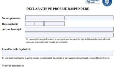 Cum arată declarația pe proprie răspundere din Italia, actualizată de autorități pe 26 martie. Ce are modificat față de modelul din România