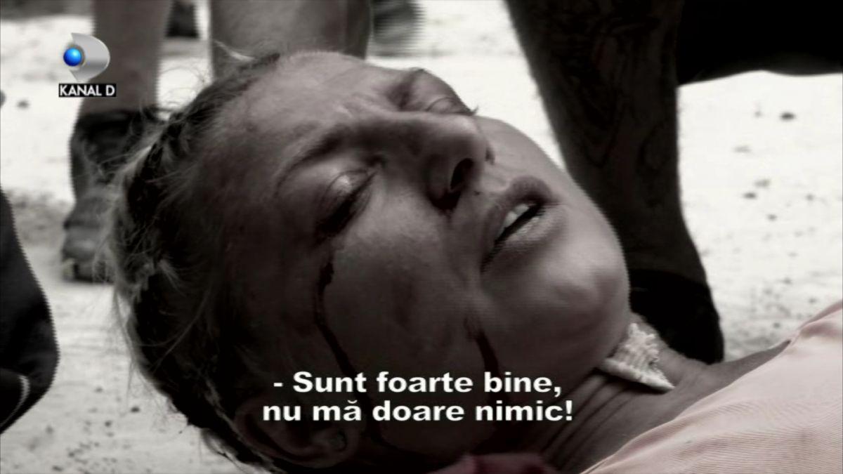 Lola de la Survivor România accidentată.