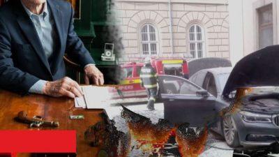 Bolidul de lux al unui avocat cunoscut a fost incendiat. Pe cine bănuiește proprietarul
