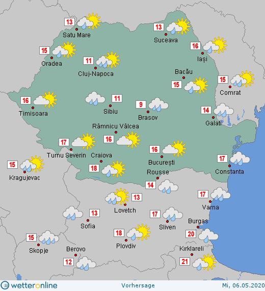 Prognoza ANM pentru miercuri, 6 mai 2020. Temperaturi scăzute pentru această decadă