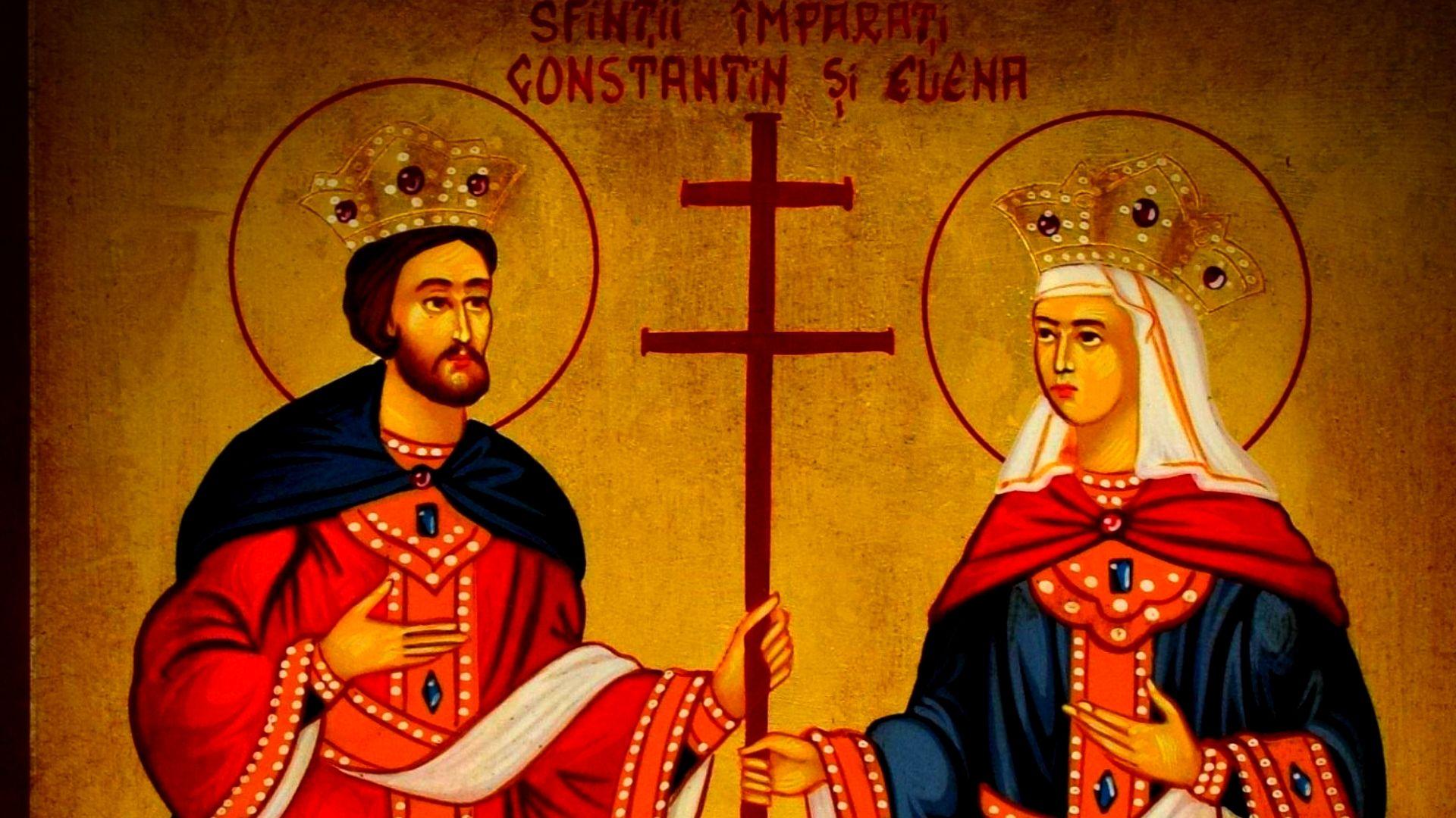 Icoană cu Sfinții Constantin și Elena.