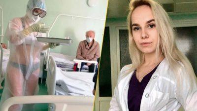 FOTO Gestul care a devenit viral. Zeci de asistente medicale din Rusia, în bikini