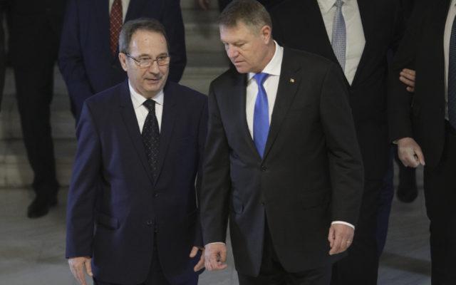 Preşedintele CCR, Valer Dorneanu și Klaus Iohannis, președintele României