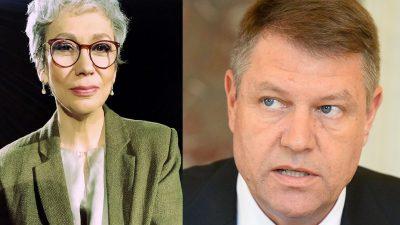 Oana Pellea, apel disperat pentru președintele Iohannis. Ce îl roagă pe șeful statului